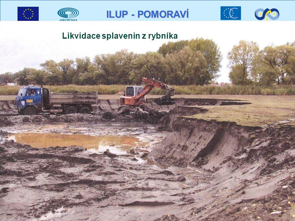 ILUP - POMORAVÍ Likvidace splavenin z rybníka
