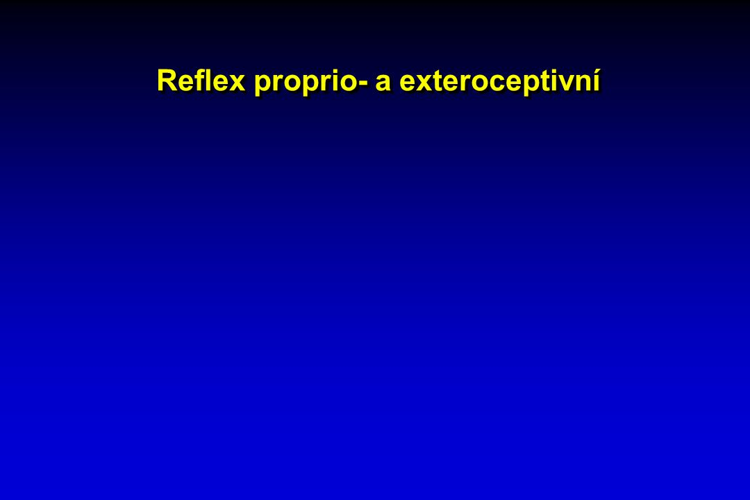 Reflex proprio- a exteroceptivní