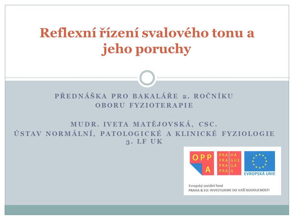 Patologické změny reflexů 1.Hyperreflexie (zvýšená odpověď, větší reflexogenní zóna) 2.