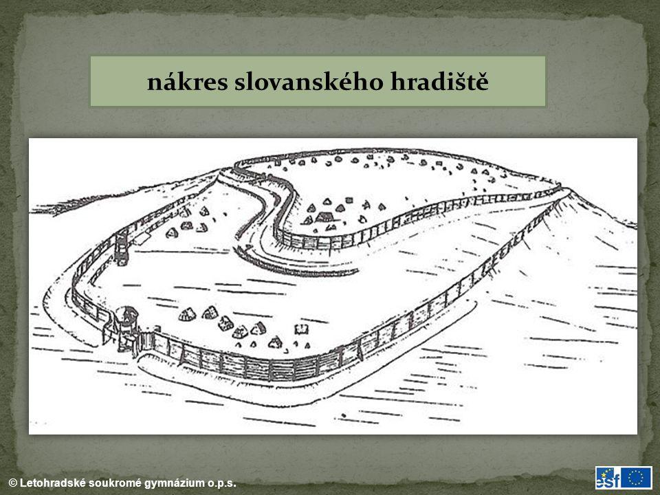 © Letohradské soukromé gymnázium o.p.s. nákres slovanského hradiště