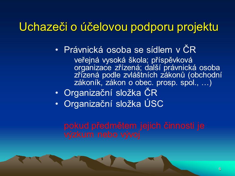 17 Financování činnosti centra - 1 Náklady  Osobní  Kapitálové  Provozní  Cestovní  Mezinárodní sp.