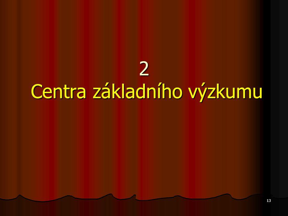 13 2 Centra základního výzkumu