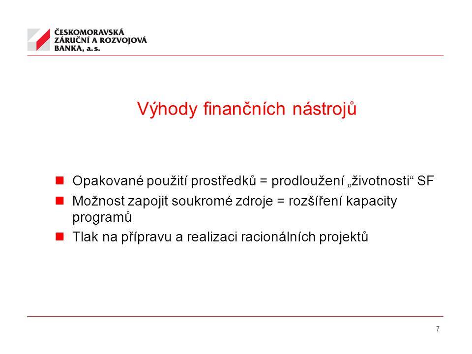 8 Fondy rozvoje měst nástroj využití prostředků strukturálních fondů