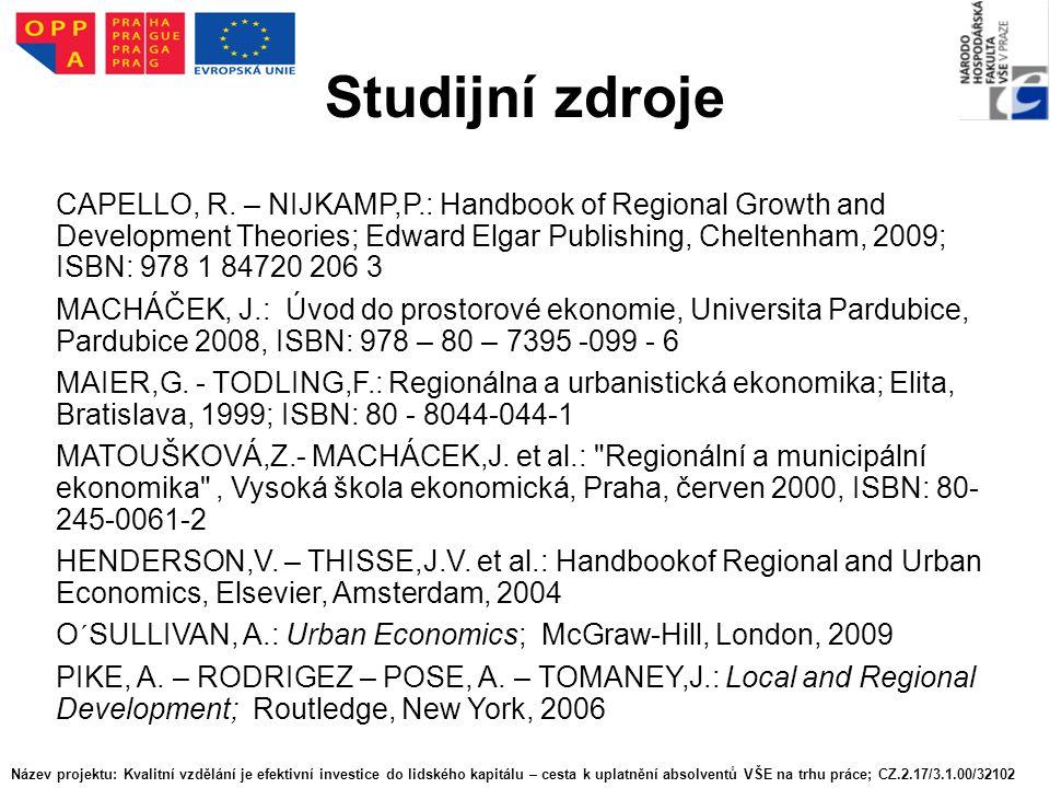 Studijní zdroje CAPELLO, R.