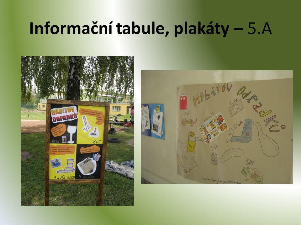 Informační tabule, plakáty – 5.A