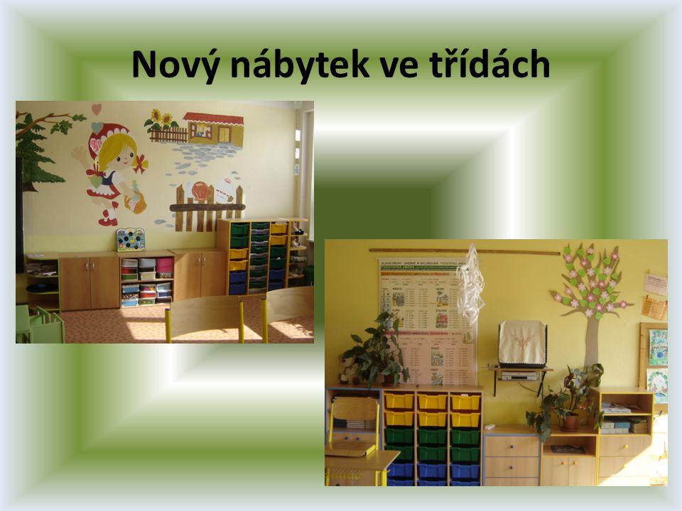 Nový nábytek ve třídách