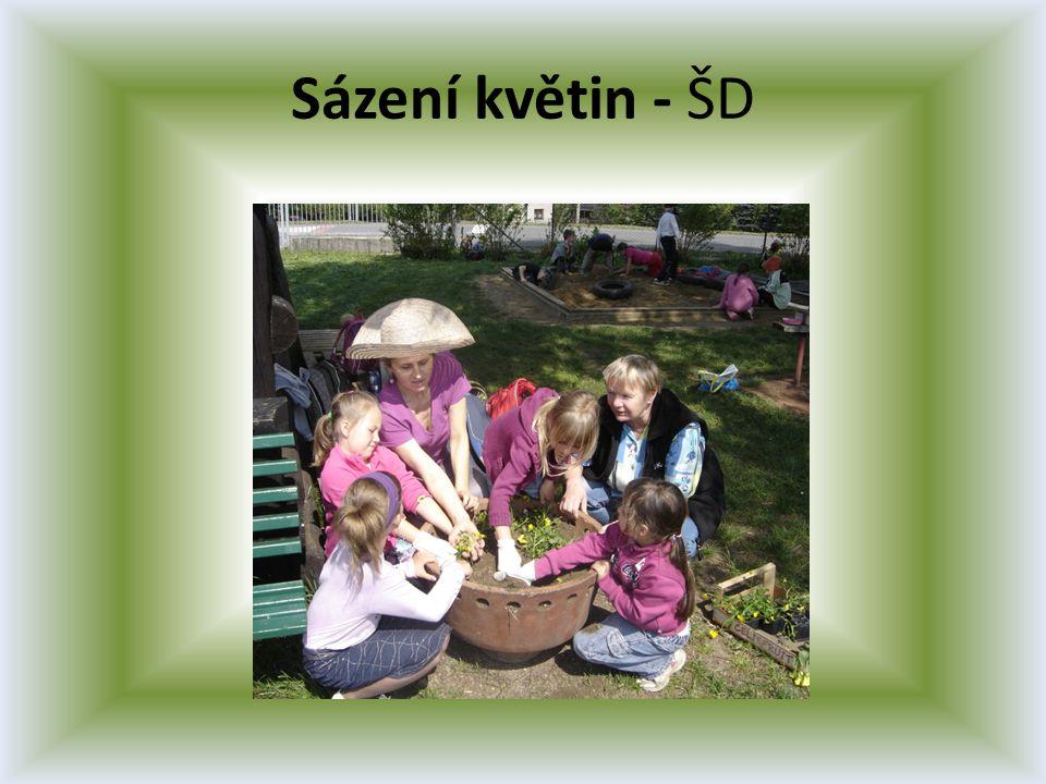 Sázení květin - ŠD