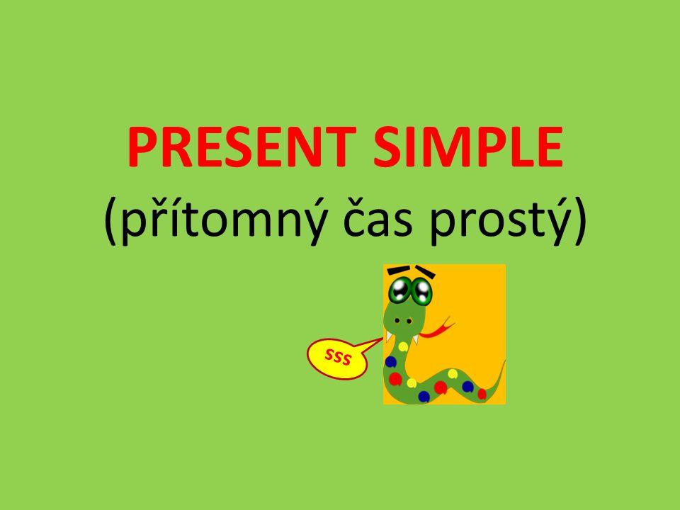 PRESENT SIMPLE (přítomný čas prostý) sss