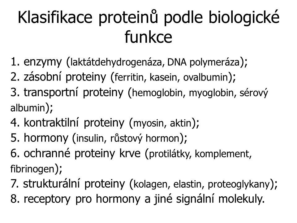 1.enzymy ( laktátdehydrogenáza, DNA polymeráza ); 2.