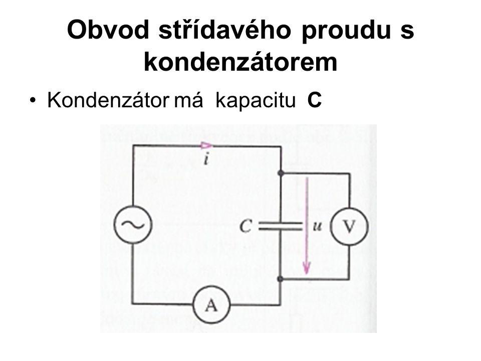 Obvod střídavého proudu s kondenzátorem Kondenzátor má kapacitu C