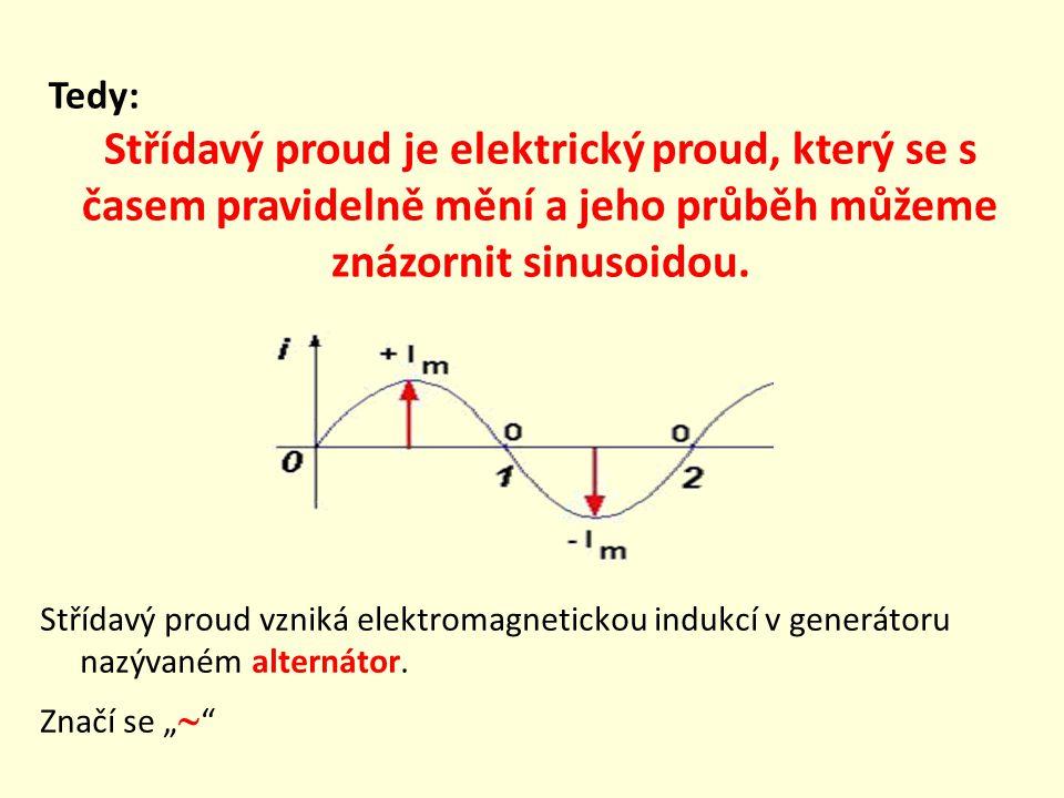 Střídavý proud vzniká elektromagnetickou indukcí v generátoru nazývaném alternátor.