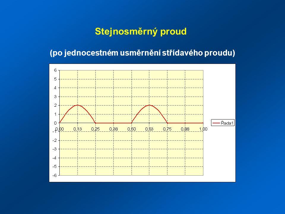 Stejnosměrný proud (po dvoucestném usměrnění střídavého proudu)