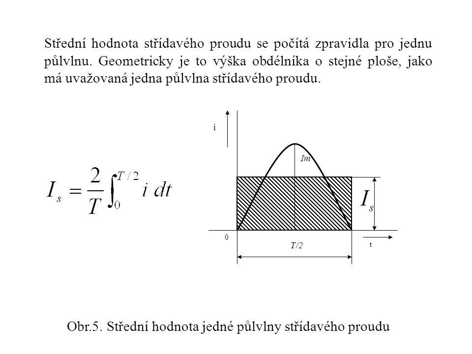 Efektivní hodnota střídavého proudu je kvadratická střední hodnota: Efektivní hodnota souvisí s výkonem střídavého proudu.