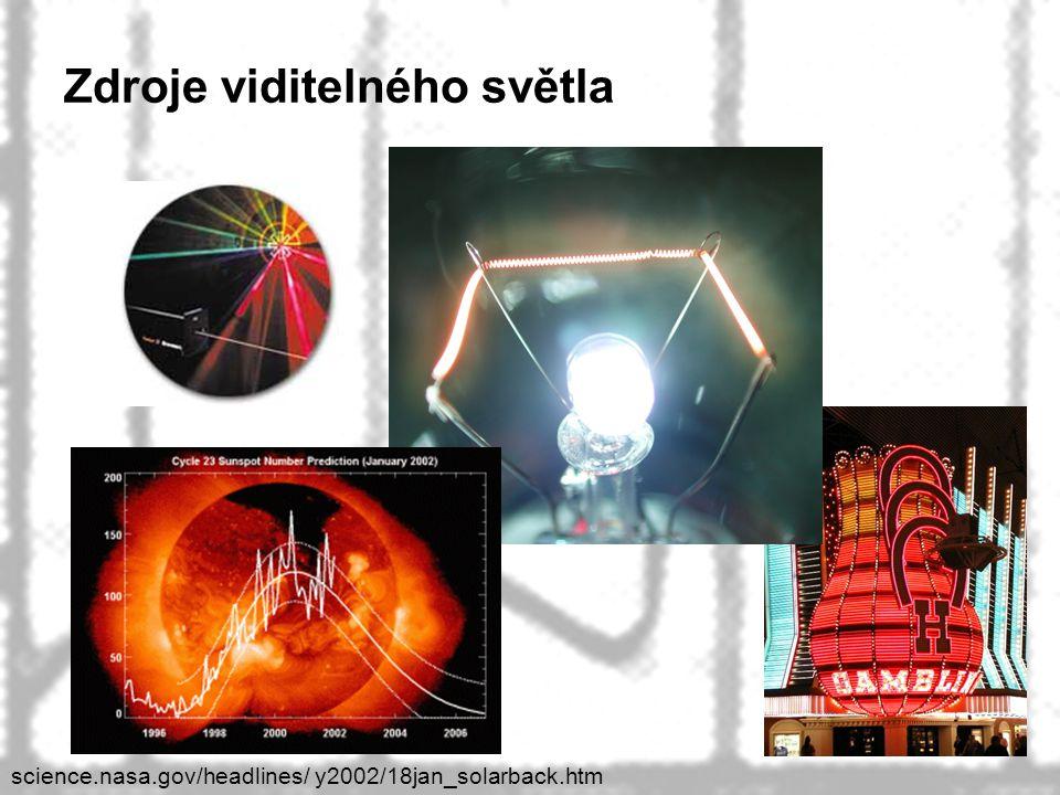 39 Zdroje viditelného světla science.nasa.gov/headlines/ y2002/18jan_solarback.htm