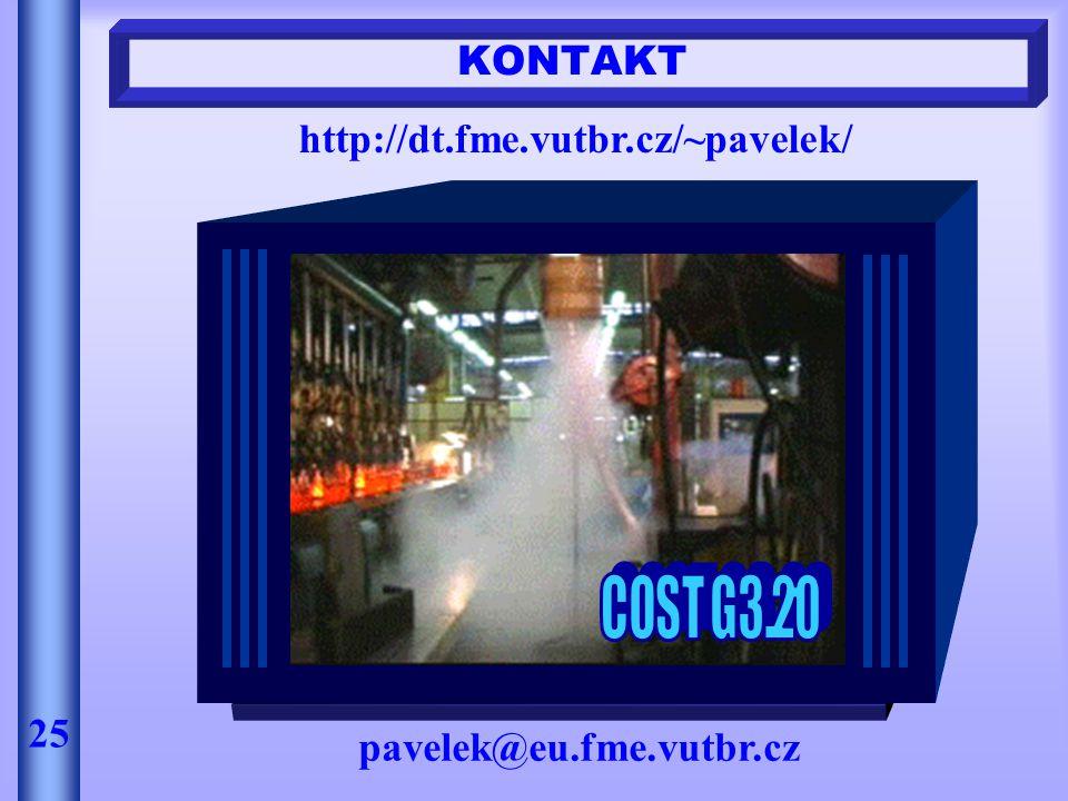 KONTAKT pavelek@eu.fme.vutbr.cz 25 http://dt.fme.vutbr.cz/~pavelek/