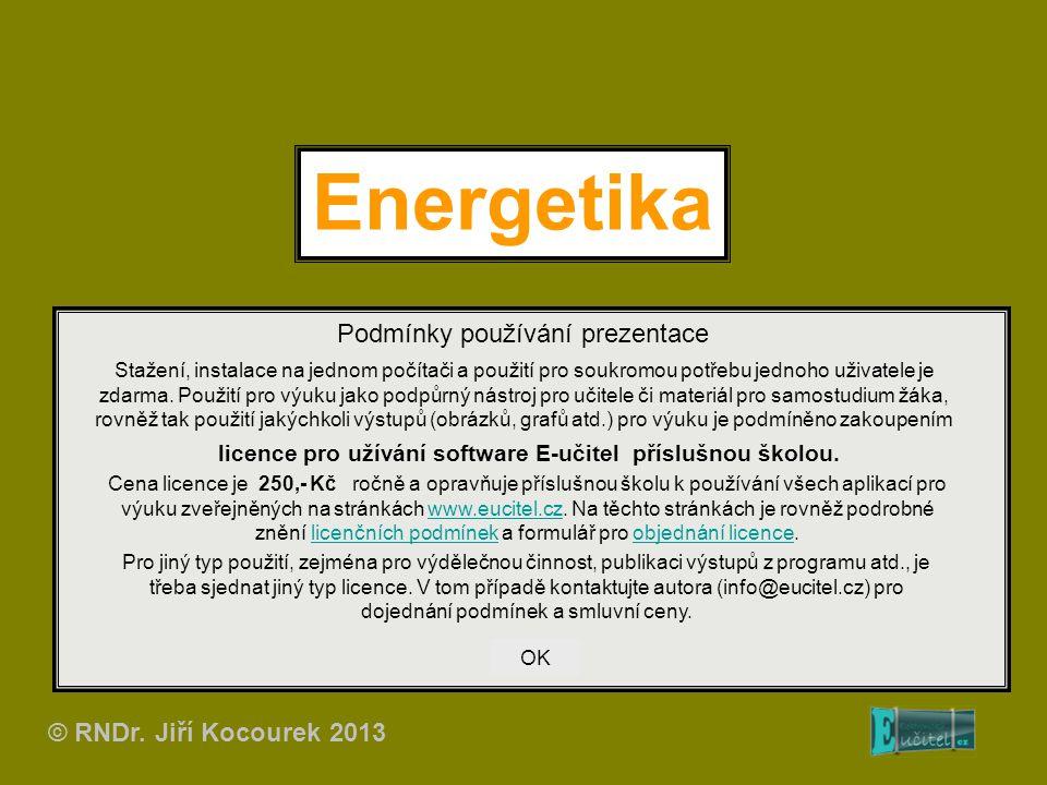 Energetika Podmínky používání prezentace Stažení, instalace na jednom počítači a použití pro soukromou potřebu jednoho uživatele je zdarma.