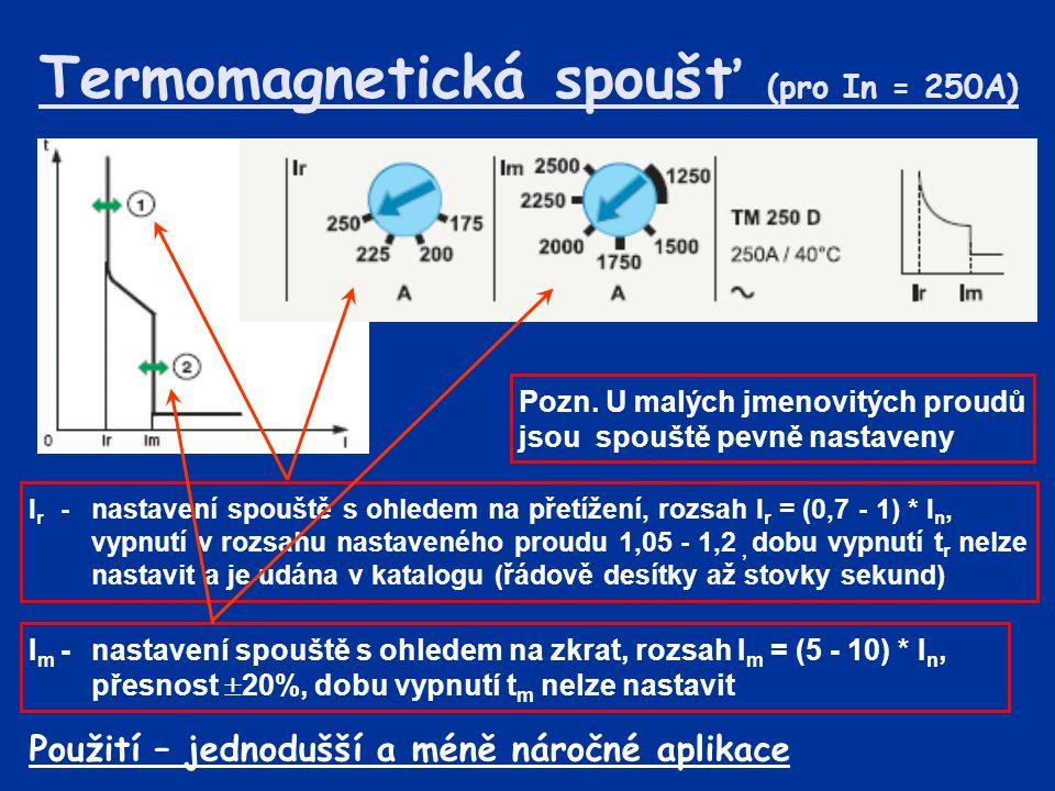 Termomagnetická spoušť (pro In = 250A)