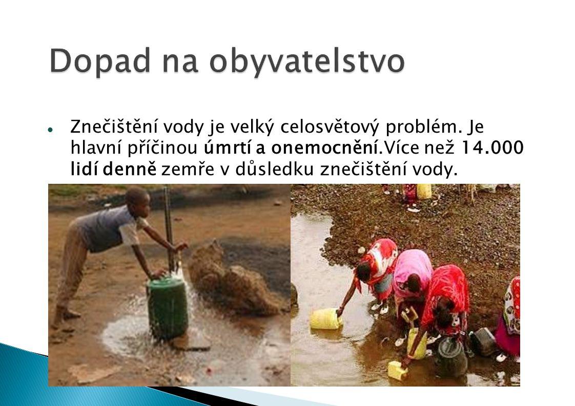 Znečištění vody je velký celosvětový problém.