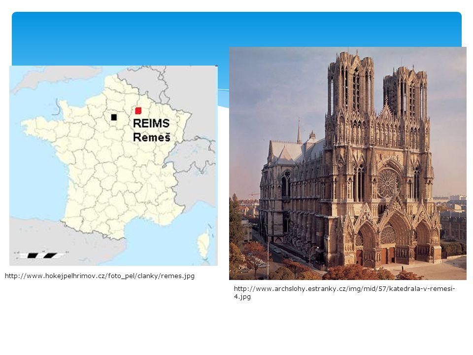  na místě bývalé katedrály – 1210 požár  Místem korunování a pohřebiště francouzských králů  1 z nejvzácnějších staveb vrcholné gotiky  Vzorem katedrála Chartres O katedrále