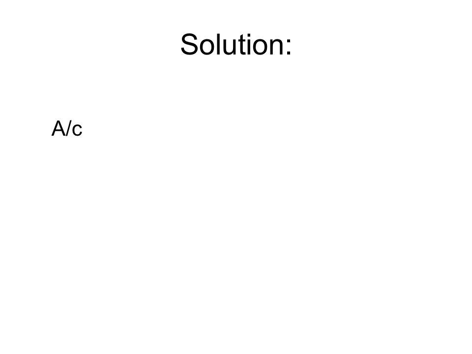 Solution: A/c
