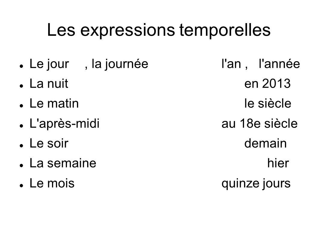 Les expressions temporelles Au début – na začátku D abord – nejdříve Avant – před něčím (pouze časově) Avant de + sloveso – dříve než Après – po (časově) Puis – potom, pak Ensuite - potom, pak À la fin - nakonec