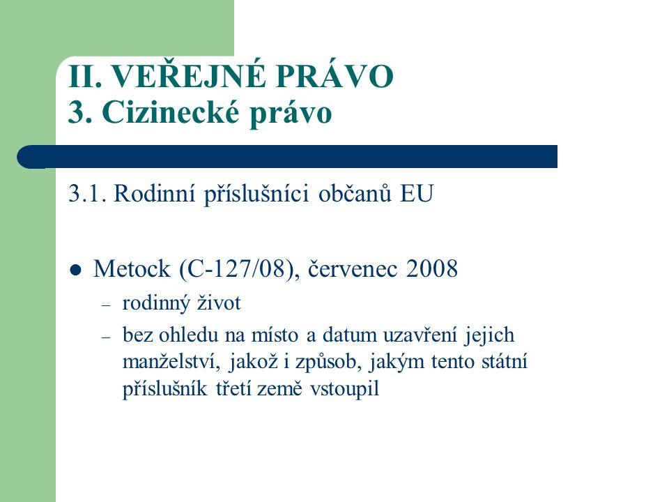 II.VEŘEJNÉ PRÁVO 3.
