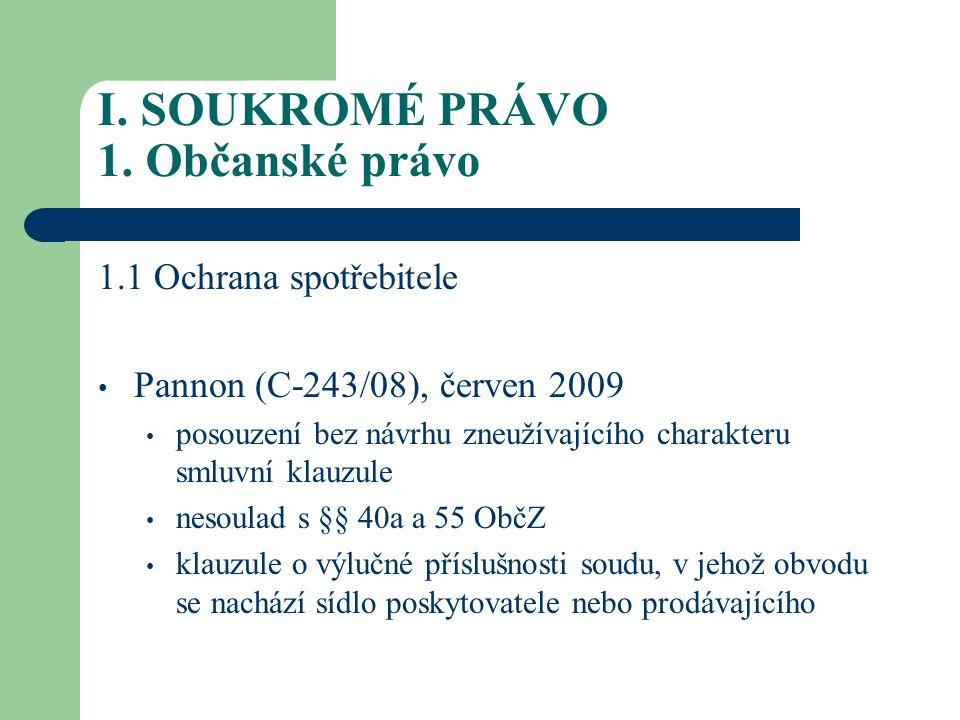 I.SOUKROMÉ PRÁVO 1.