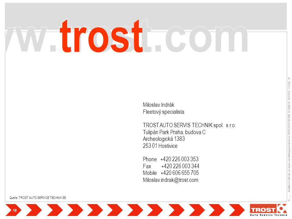 10 ©....... - Sämtliche Rechte wie z.B. Kopier- und Weitergaberecht bei der TROST AUTO SERVIVE TECHNIK SE- 8/25/2014 - 3:24 AM - 10 Quelle: TROST AUTO