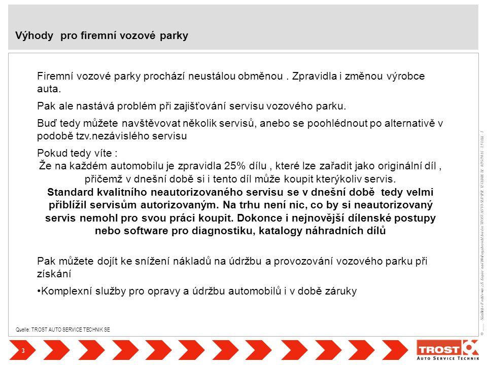 3 ©....... - Sämtliche Rechte wie z.B. Kopier- und Weitergaberecht bei der TROST AUTO SERVIVE TECHNIK SE- 8/25/2014 - 3:24 AM - 3 Quelle: TROST AUTO S