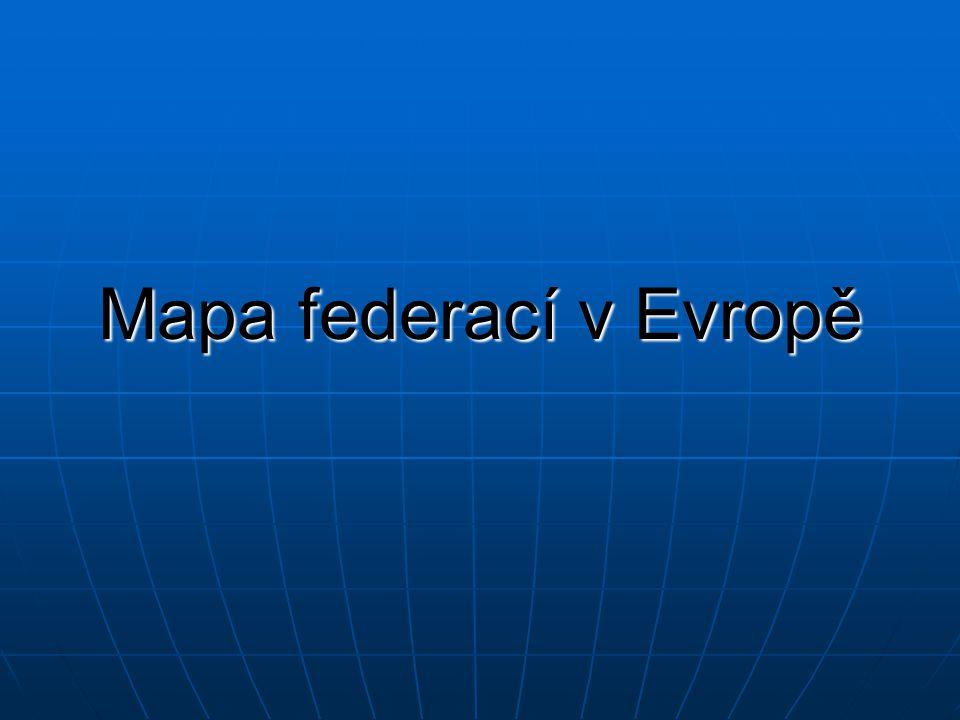 Mapa federací v Evropě