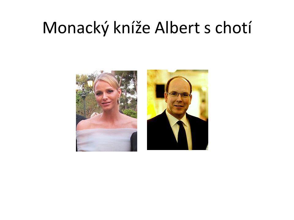 Monacký kníže Albert s chotí