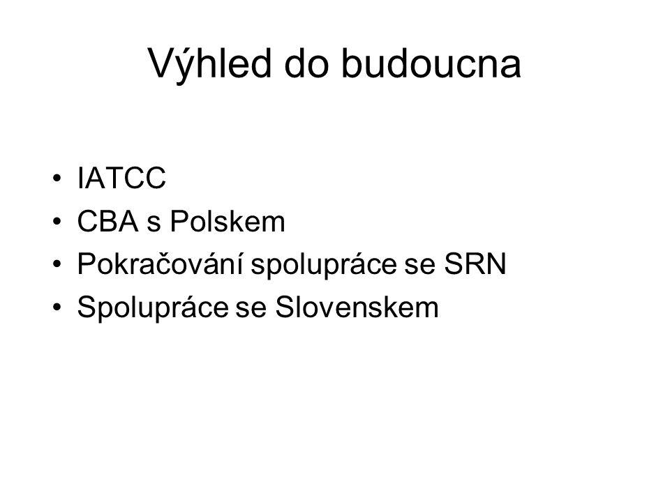 Výhled do budoucna IATCC CBA s Polskem Pokračování spolupráce se SRN Spolupráce se Slovenskem
