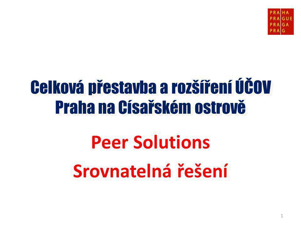 Peer Solutions Srovnatelná řešení Celková přestavba a rozšíření ÚČOV Praha na Císařském ostrově 1