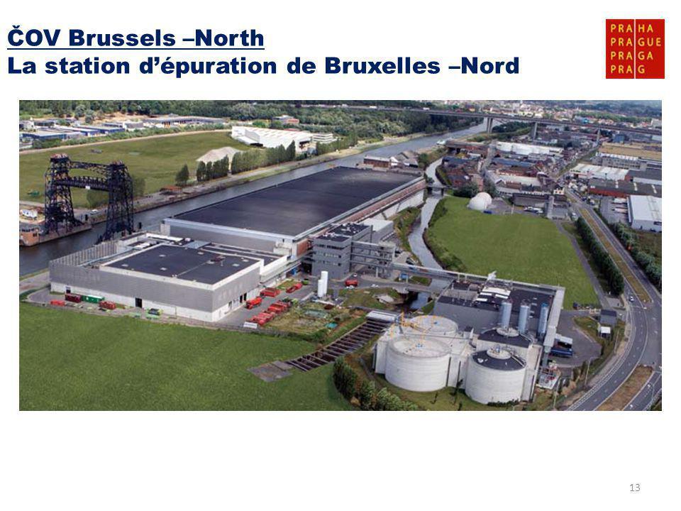 13 ČOV Brussels –North La station d'épuration de Bruxelles –Nord