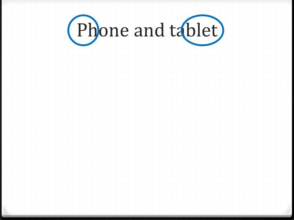 0 Velikost dispeje: 5 – 7 0 Součástí bývá dotykové pero 0 Slučuje vlastnosti smartphonu a tabletu 0 Lze na něm číst e-knihy 0 Větší obrazovka = více informací 0 Umí telefonovat 0 Mínus - nevleze do kapsy P H A B L E T