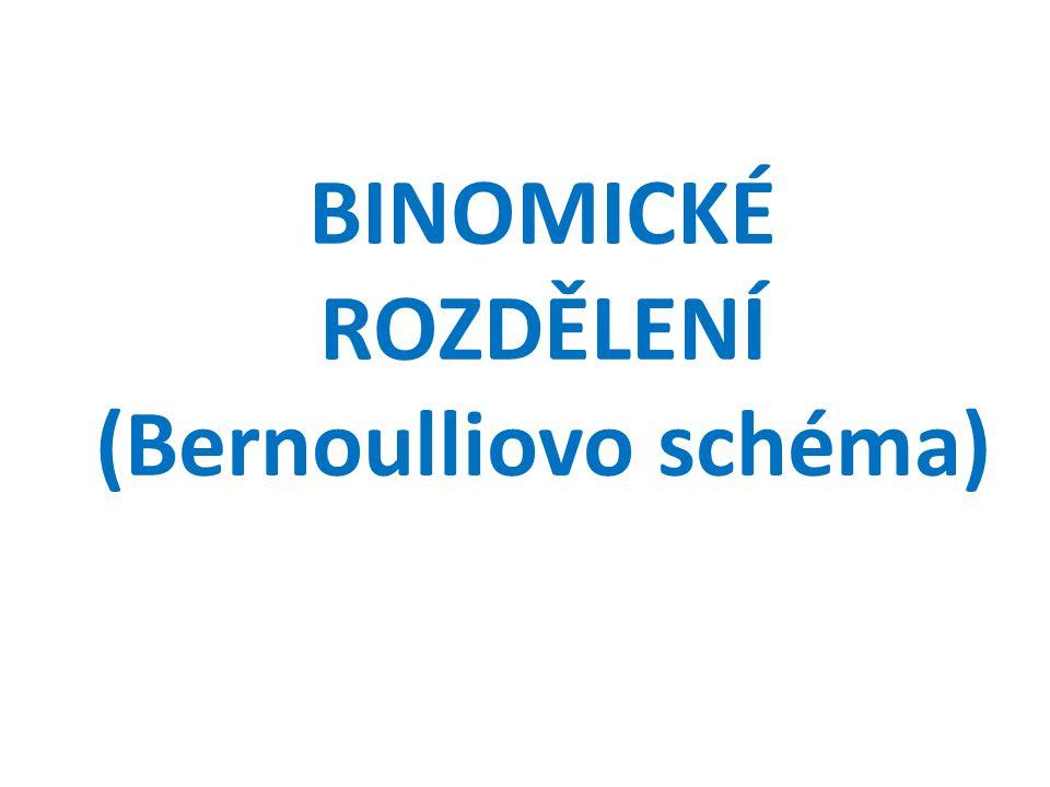 BINOMICKÉ ROZDĚLENÍ (Bernoulliovo schéma)