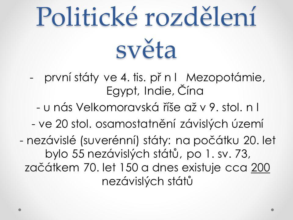 po 1.SV nové nezávislé státy v Evropě, 2.