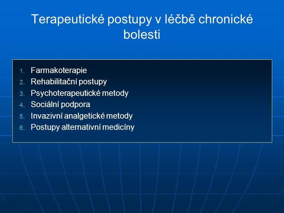 Terapeutické postupy v léčbě chronické bolesti 1.1.