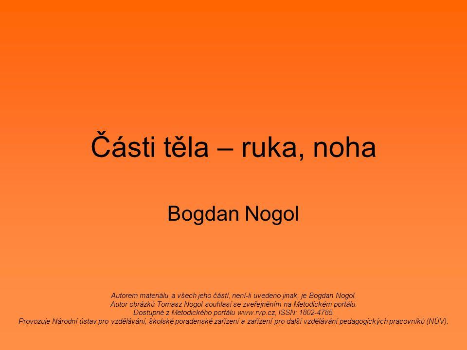 Části těla – ruka, noha Bogdan Nogol Autorem materiálu a všech jeho částí, není-li uvedeno jinak, je Bogdan Nogol.
