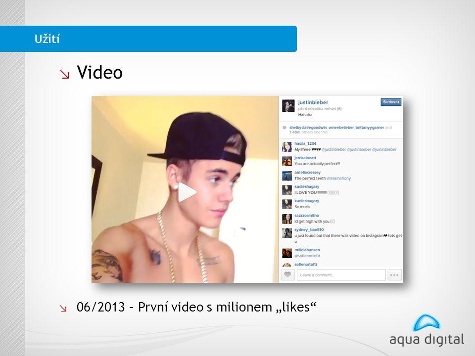 """↘ Video ↘ 06/2013 – První video s milionem """"likes Užití"""