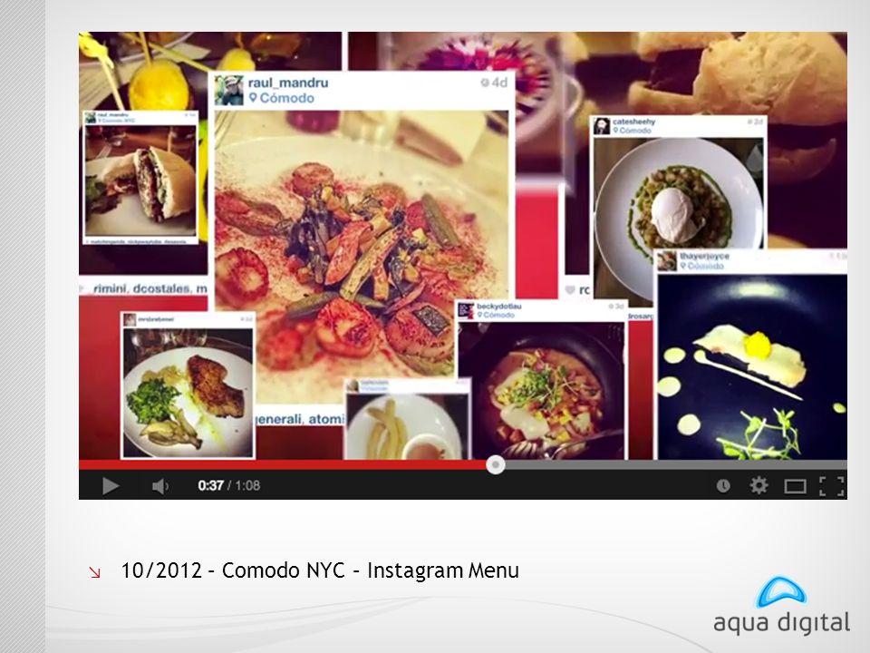 ↘ 10/2012 – Comodo NYC – Instagram Menu
