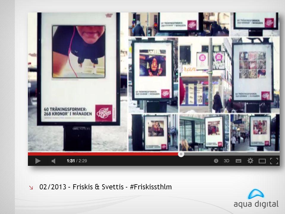 ↘ 02/2013 – Friskis & Svettis - #Friskissthlm