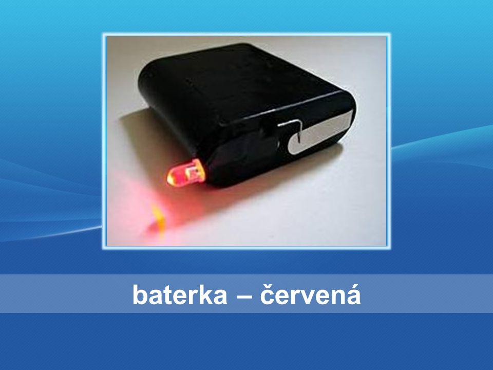 baterka – červená