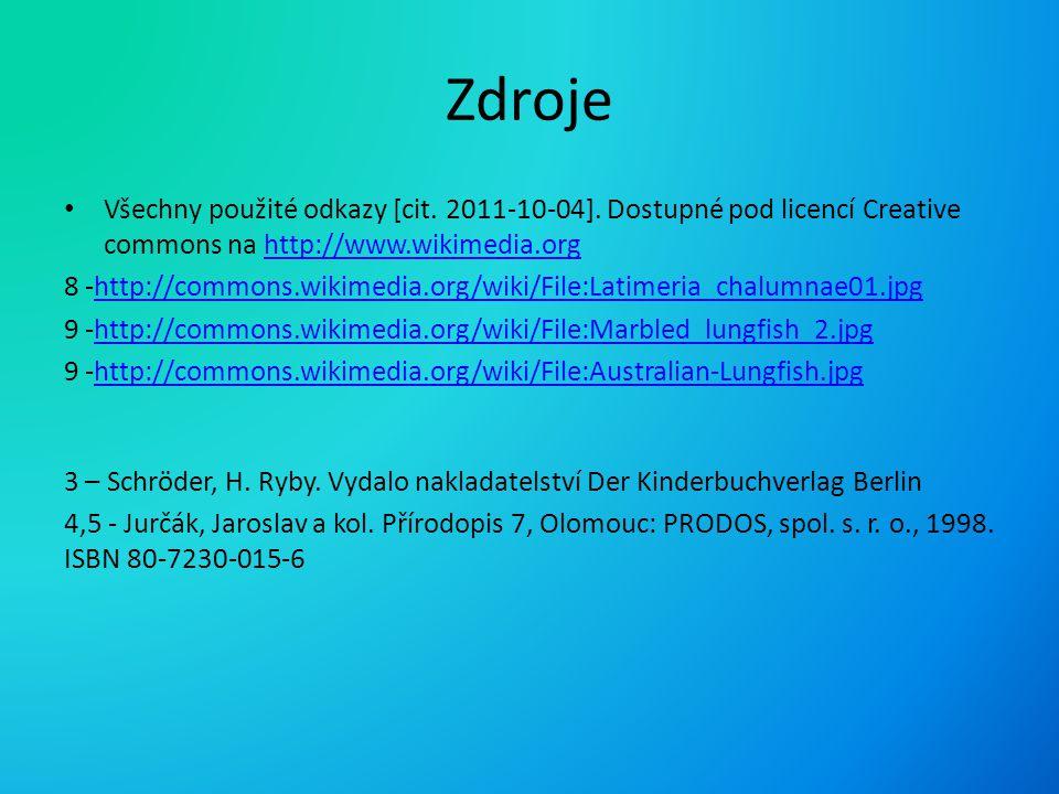 Zdroje Všechny použité odkazy [cit. 2011-10-04]. Dostupné pod licencí Creative commons na http://www.wikimedia.orghttp://www.wikimedia.org 8 -http://c
