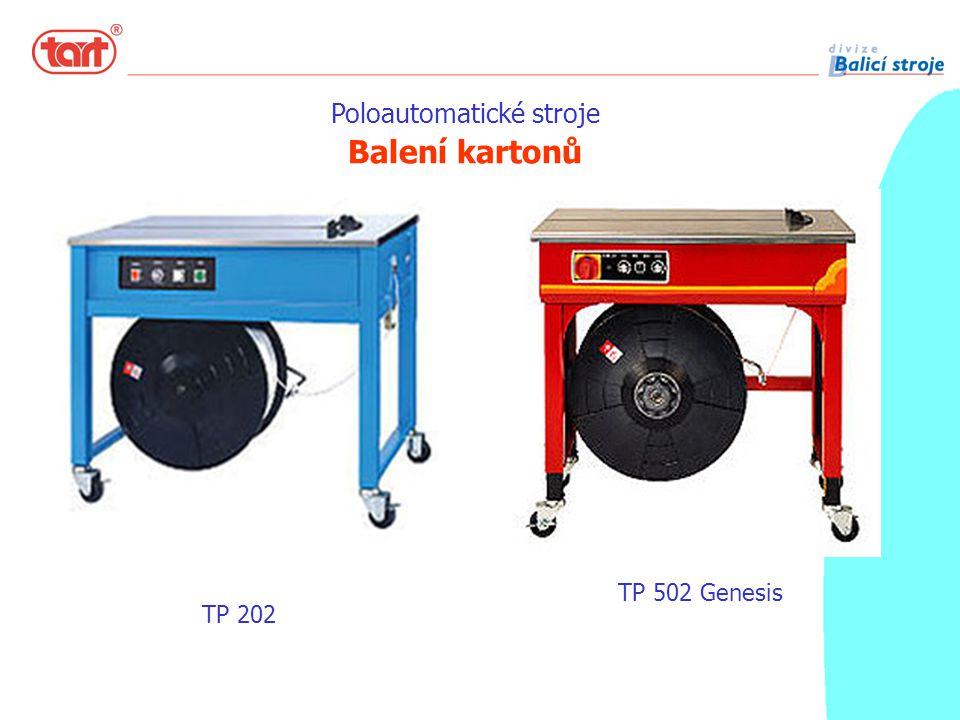 Poloautomatické stroje Balení kartonů TP 202 TP 502 Genesis