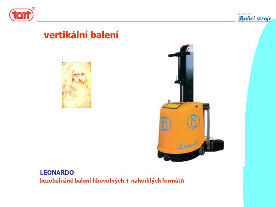 LEONARDO bezobslužné balení libovolných + nahodilých formátů vertikální balení