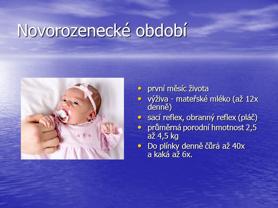 Život člověka rozdělujeme na několik období: Vývojová období člověka novorozeneckojenecbatolepředškolák mladší školní věk starší školní věk dorostdosp