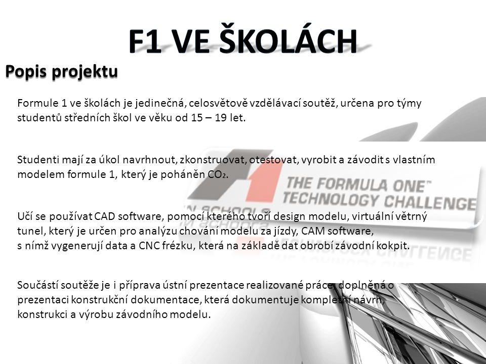 Formule 1 ve školách je jedinečná, celosvětově vzdělávací soutěž, určena pro týmy studentů středních škol ve věku od 15 – 19 let.
