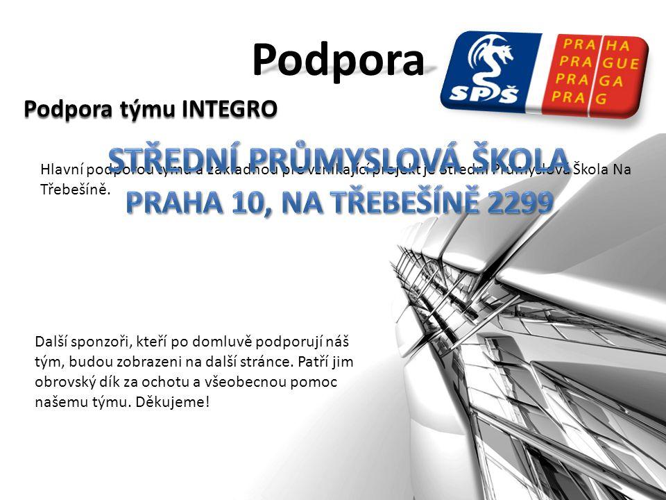 Podpora Podpora týmu INTEGRO Hlavní podporou týmu a základnou pro vznikající projekt je Střední Průmyslová Škola Na Třebešíně.