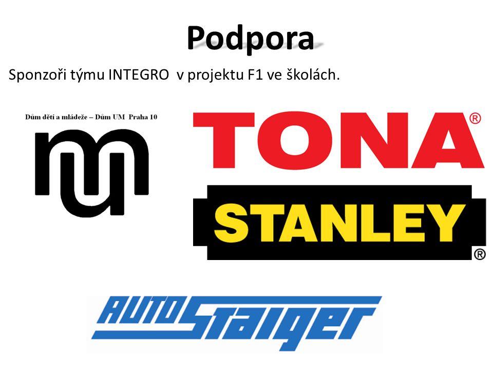 Podpora Sponzoři týmu INTEGRO v projektu F1 ve školách.